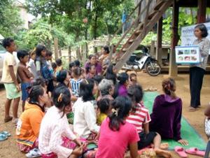 保健ボランティアによる保健教育